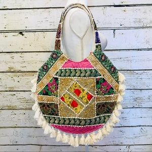 Indian handcrafted over the shoulder hobo bag